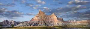 Landscape showing erosional features in sandstone, Badlands National Park, South Dakota by Tim Fitzharris