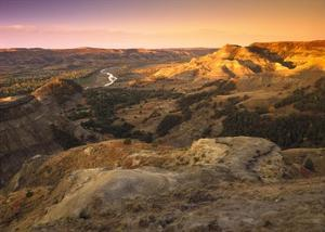 Little Missouri River, Theodore Roosevelt National Park, North Dakota by Tim Fitzharris