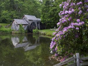 Mabry Mill, Blue Ridge Parkway, Virginia by Tim Fitzharris