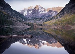 Maroon Bells Lake, Snowmass Wilderness, White River National Forest, Colorado by Tim Fitzharris