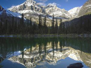 Mount Huber Reflects in a Lake, Yoho National Park, British Columbia, Canada by Tim Fitzharris