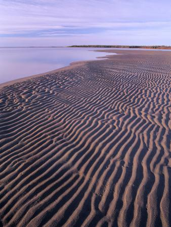 Ripples in the Sand, Kouchibouguac National Park, New Brunswick, Canada by Tim Fitzharris
