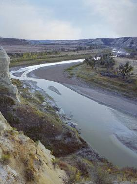River Running Through Wind Canyon, Theodore Roosevelt National Park, North Dakota by Tim Fitzharris