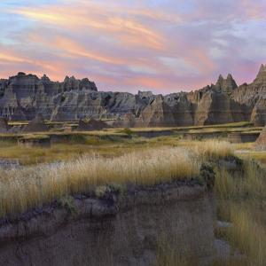 Rock Formations of Badlands National Park, South Dakota by Tim Fitzharris