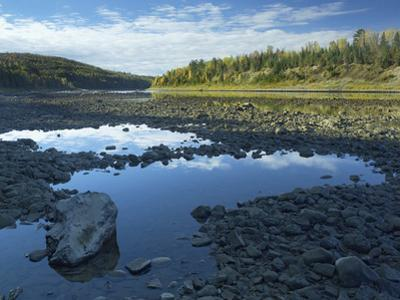 Rocky Shoreline of the Saint John River, New Brunswick by Tim Fitzharris