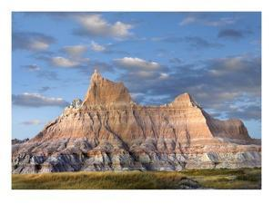 Sandstone striations and erosional features, Badlands National Park, South Dakota by Tim Fitzharris