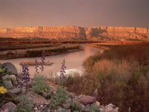 Sierra Ponce and Rio Grande, Big Bend National Park, Texas by Tim Fitzharris