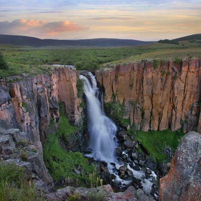 Sunset over the North Clear Creek Falls, Rio Grande National Forest, Colorado by Tim Fitzharris
