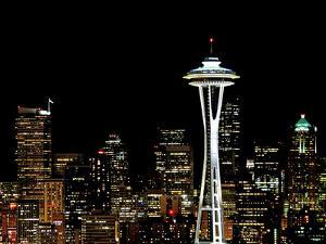 Seattle Skyline with Space Needle by Tim Ford