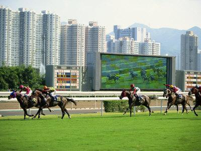 Horse Racing in Hong Kong, China