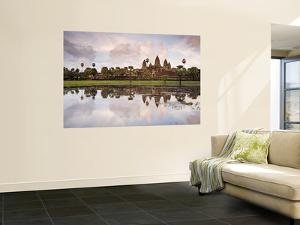 Angkor Wat and its Reflection by Tim Hughes