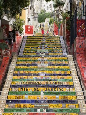 Escadaria Selaron in Lapa by Tim Hughes