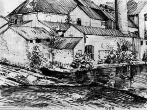 The Old Mill On the Exe by Tim Kahane