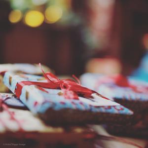 Wrapped Xmas Presents by Tim Kahane