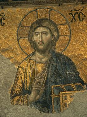A Mosaic of Jesus at St. Sophia Hagia in Istanbul by Tim Laman