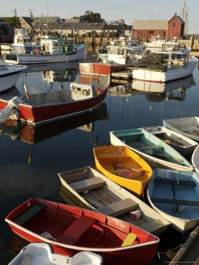Lobster Fishing Boats and Row Boats in Rockport Harbor, Ma by Tim Laman