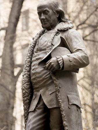 Statue of Ben Franklin in Boston, Massachusetts by Tim Laman