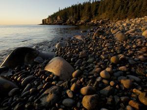 Sunset at a Rocky Beach Near Otter Cliff by Tim Laman