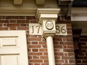 The Cornerstone of Franklin Court, The Home of Benjamin Franklin by Tim Laman
