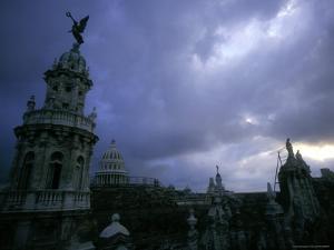 Downtown with Stormy Skies, Havana, Cuba by Tim Lynch