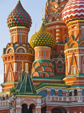 Walls and Domes of St Basils Cathedral (Pokrovsky Cathedral) in Red Square by Tim Makins