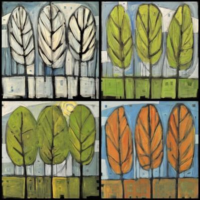 Four Seasons Tree Series Square