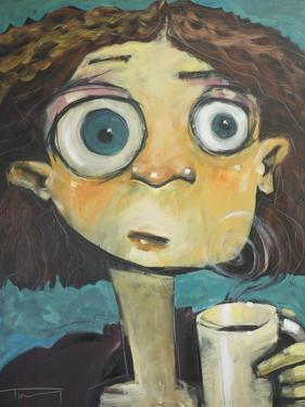 Her First Sip of Coffee by Tim Nyberg