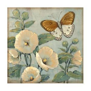 Butterfly and Hollyhocks I by Tim O'toole