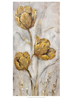 Golden Poppies on Taupe II by Tim O'toole