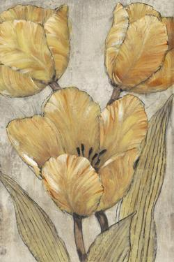 Ochre & Grey Tulips II by Tim O'toole