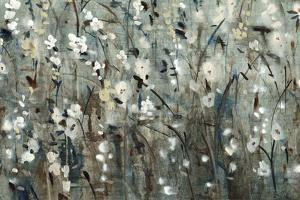 White Blooms with Navy II by Tim O'toole