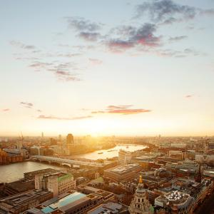 View of London and the Thames at Sunset. by Tim Robberts