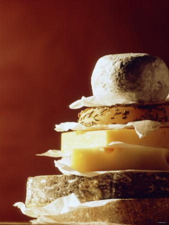 A Pile of Pieces of Different Cheeses by Tim Thiel