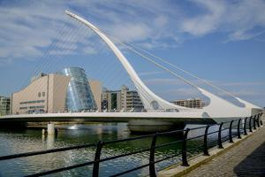 Samuel Beckett Bridge and the Convention Centre Dublin (Ccd) in the Dublin Docklands by Tim Thompson