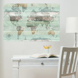 Map wall stickers posters at allposters timber world map wall decal sciox Choice Image