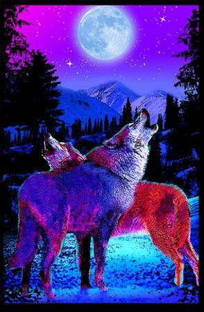 Timberwolves Flocked Blacklight Poster