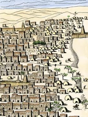 Timbuktu in Africa, as Drawn by Rene-Auguste Caillie, the First European Visitor, c.1828