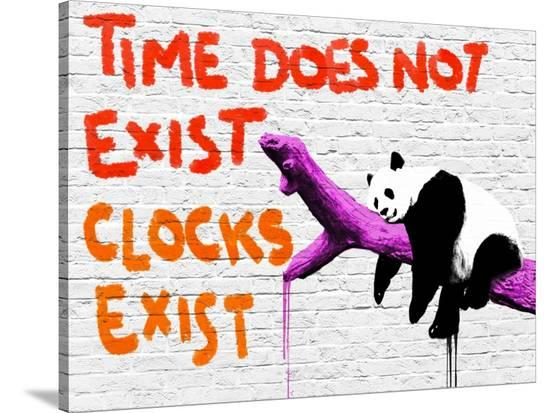 Time does not exist-Masterfunk collective-Stretched Canvas