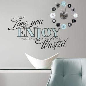 Time You Enjoy Peel and Stick Quote Clock