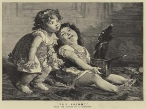 The Fright by Timoleon Marie Lobrichon
