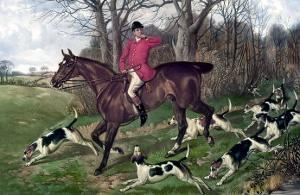 Horse Fox Hunt I by Timothy Blossom