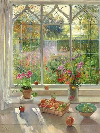 Autumn Fruit and Flowers, 2001 by Timothy Easton
