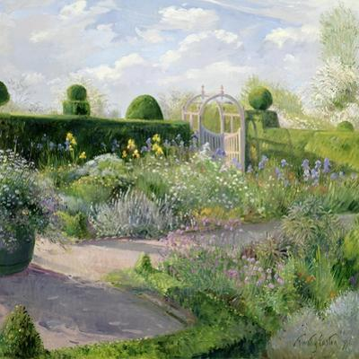 Irises in the Herb Garden, 1995 by Timothy Easton