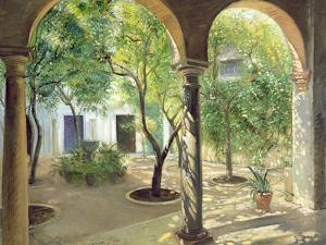 Shaded Courtyard, Vianna Palace, Cordoba by Timothy Easton