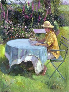 The Morning Read, 1992 by Timothy Easton