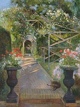 The Rose Trellis, Bedfield, 1996 by Timothy Easton
