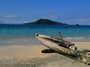 Canoe, Los Cochino, Garifuma, Honduras by Timothy O'Keefe