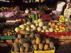 Fruits and Vegetables at Floating Market, Curacao by Timothy O'Keefe