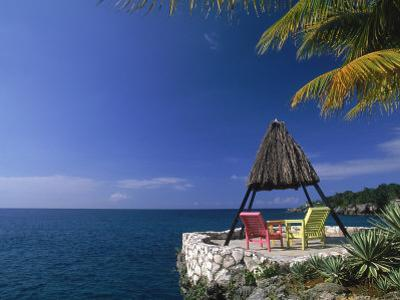 Rock House with Colorful Chairs, Negril, Jamaica