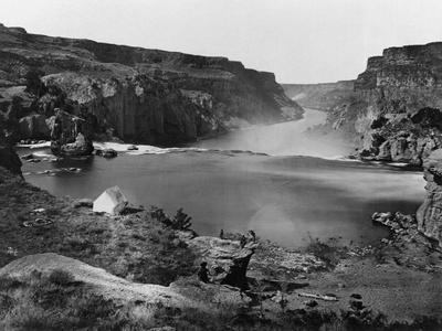 A Tent on a Bluff over Shoshone Falls